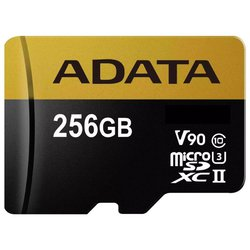 Карта памяти ADATA Premier ONE microSDXC UHS-II U3 Class 10 256GB + SD adapter