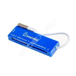 Картридер All in 1 USB 2.0 (SmartBuy SBR-717-B) (синий)