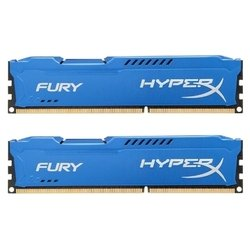Память Kingston 16GB 1333MHz DDR3 CL9 DIMM HyperX FURY Blue Series (HX313C9FK2/16)