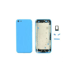 Корпус для Apple iPhone 5C + держатель sim (М0943067) (голубой) (1-я категория)